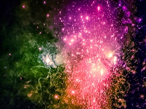 Science in the sky: The Chemistry of fireworks and their colours
