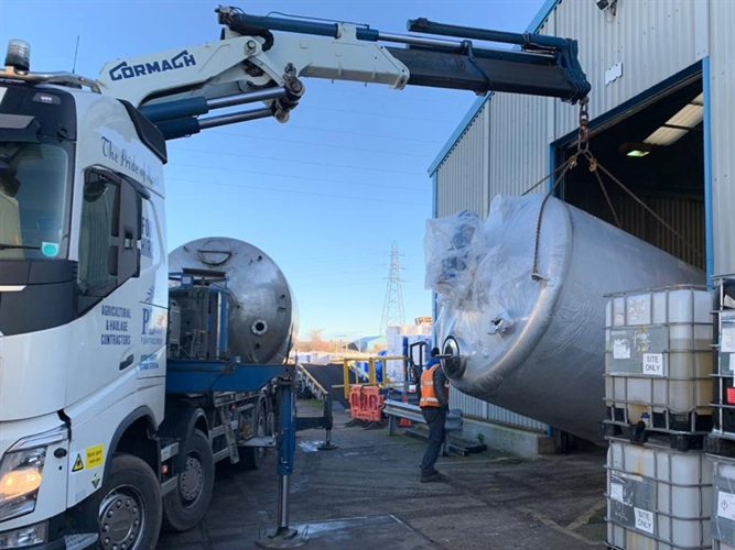 New Chemical Blending Tank Installation at Sheerness