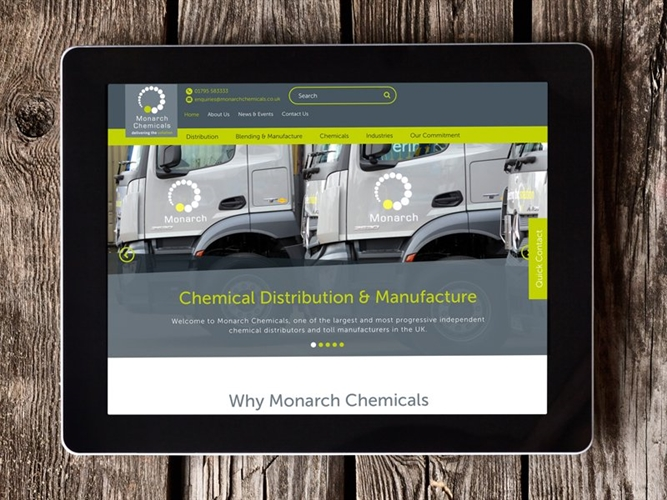 Monarch Chemicals Website Launch
