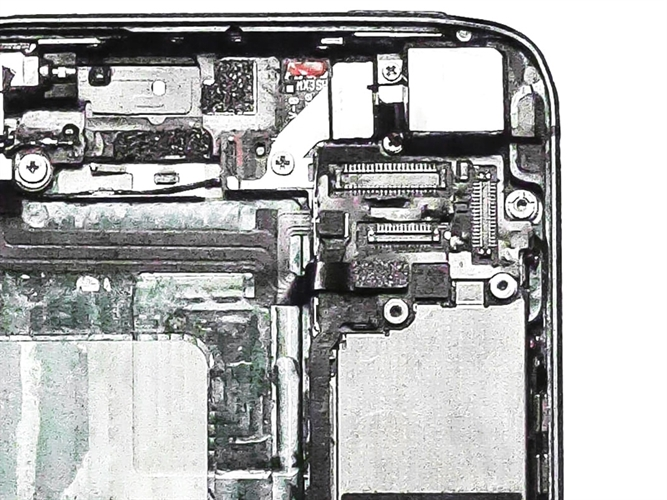 Inside of mobile phone