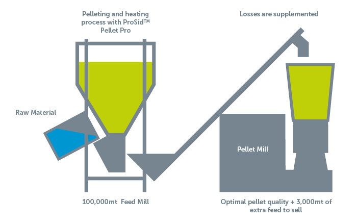 Pelleting and heating process with ProSid Pellet Pro